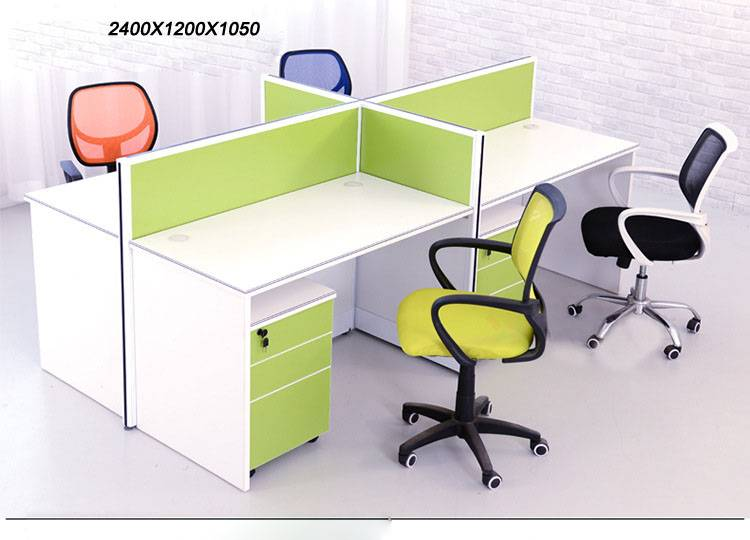 4 Person Office Workstation Desk for Staff