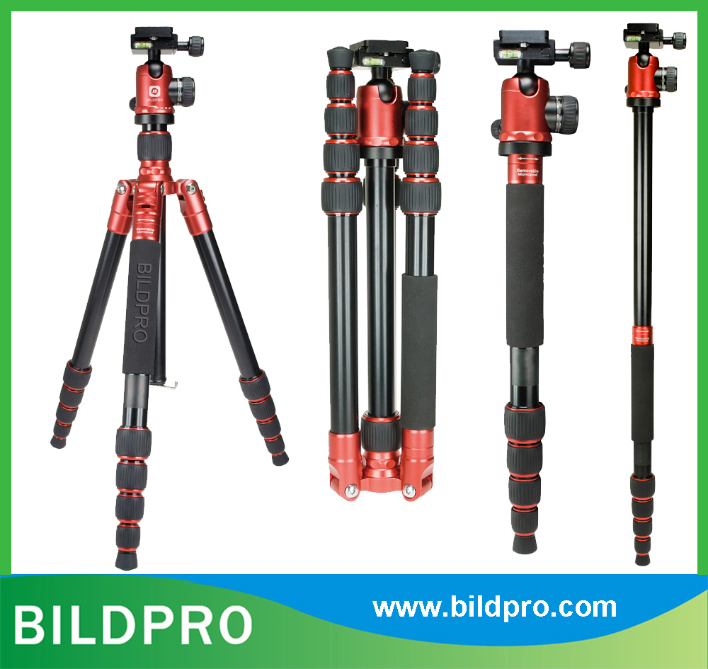 Foldable Aluminum Tripod Professional Photo Stand Monopod Ball Head