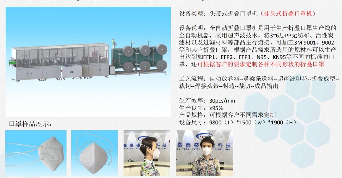 KN95 headband folding mask integrated machine