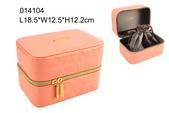 high-grade PU leather cosmetic bag with drawstring bag