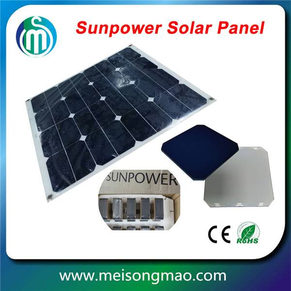 High quality portable bendable semi flexible solar panel 120W 18V solar panel