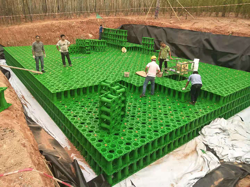 Rainwater Retention Crates Tank For Rainwater Retention System