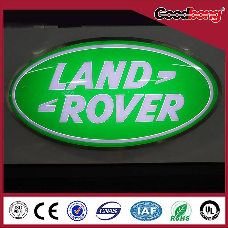 Custom acrylic led lighted car emblem/car logo and their name