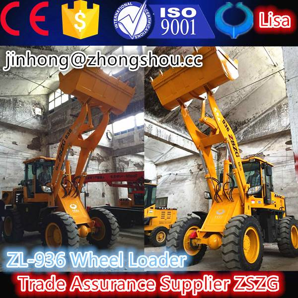 CE 75KW wheel loader with snow blade and bucket