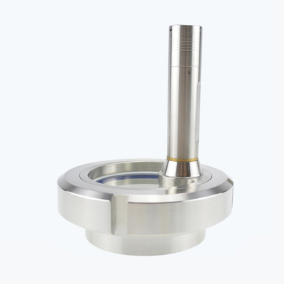 Stainless Steel Sanitary Union Sight Glass with LED Light