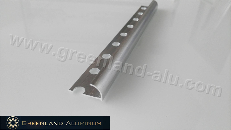 Aluminium Profile Round Edge Tile Trim with Anodized Silver Color
