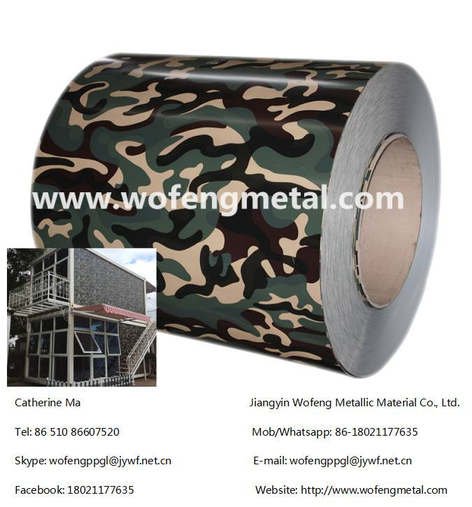Camouflage/army color coated pre-painted galvanized steel coil