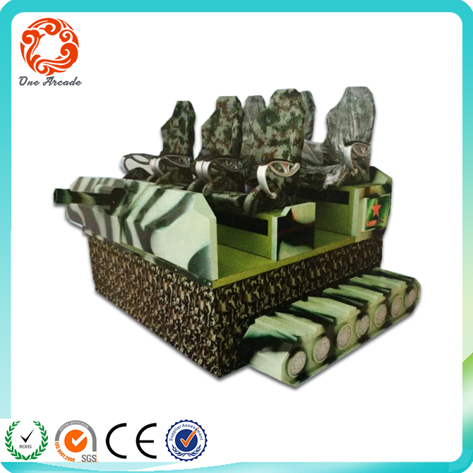 9d 6seats Dynamic domineering mighty tank shape VR cinema game machine