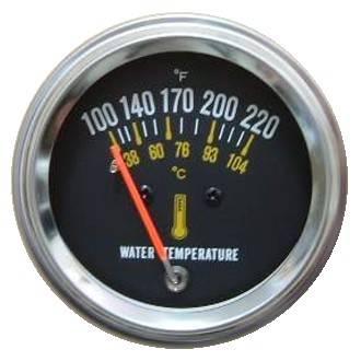"Auto Mechanical Water Temperature Gauge 2-1/16"""