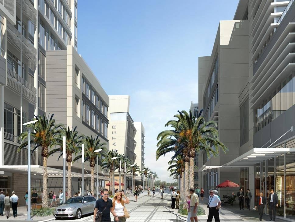 3D Exterior Rendering--Pedestrian Zone