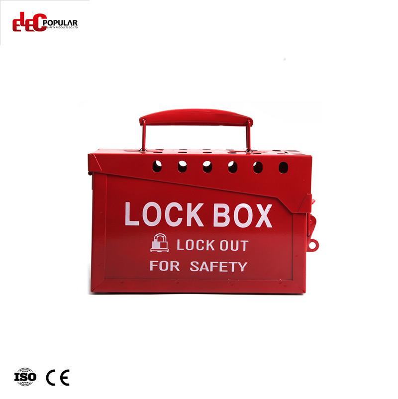 Metal Portable Lock Box EP-8812 Lockout Box and Kit Group Lockout Box