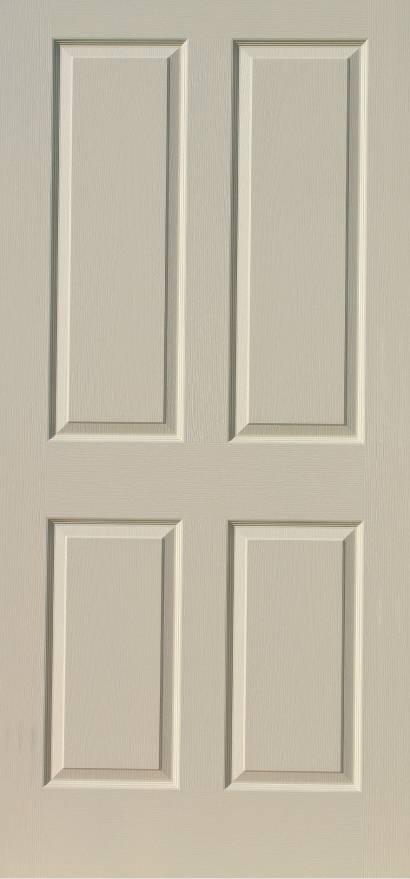 steel door fire door in white