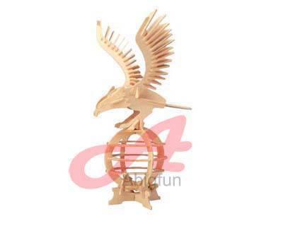 wood craft model birds wooden toy Eagle