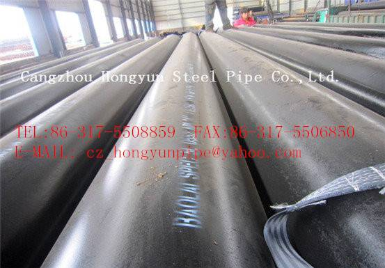 ASTM gas oil transport with Mild carbon spiral welded steel pipe