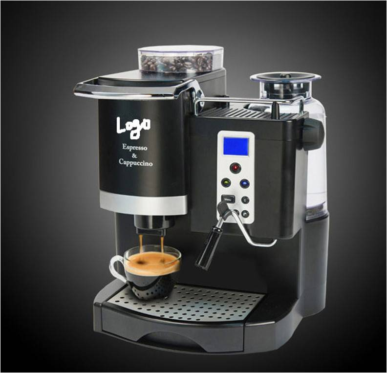semi-auto coffee machine , 1000-1160W , CE Marked .