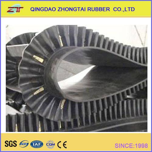 Sidewall Rubber Conveyor Belt Width 300-2200mm China Well-Known Trademark Zhongtai