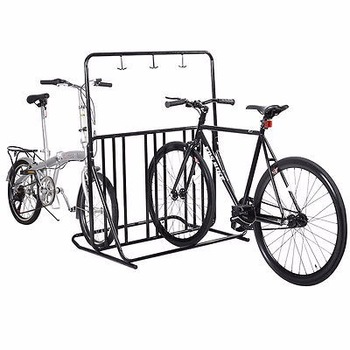 Bicycle Parking Storage Rack 1-6 Bikes Steel Park Stand 2/3/4/5 Black