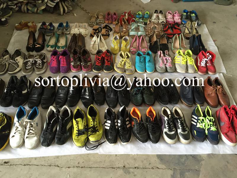 Hot sale in Africa second hand shoes, mixed used shoes, men sport shoes in stock!