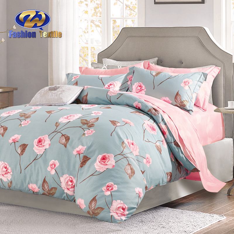 Credible printed comforter luxury flower bedding set with duvet cover