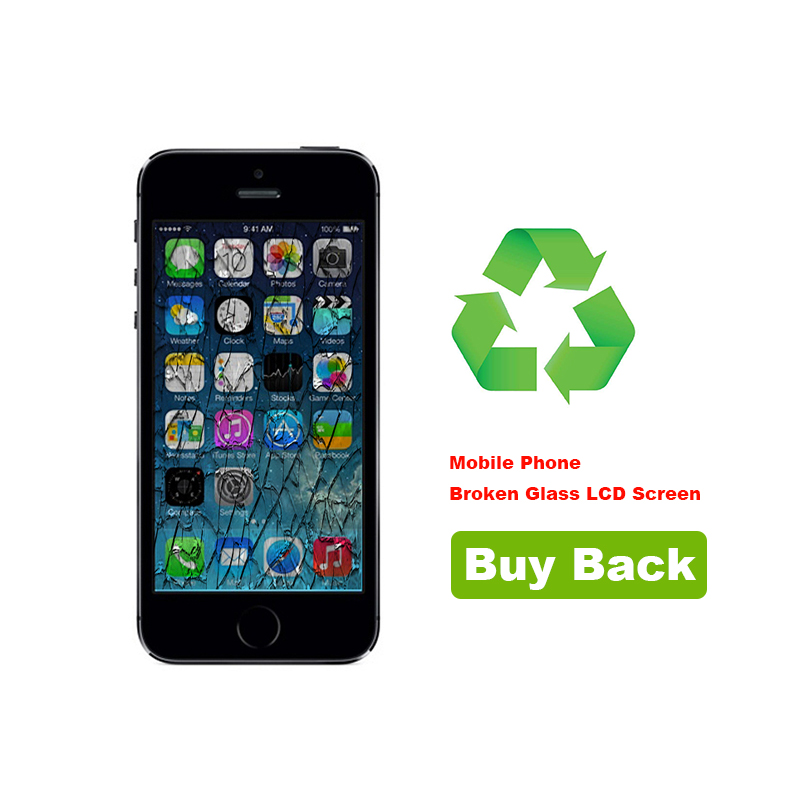 Recycling Your iPhone 5S Broken Glass LCD Screen