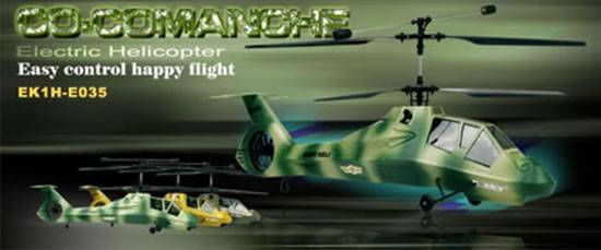 Esky E035 Co-Comanche Electronic RC Helicopter(RTF)