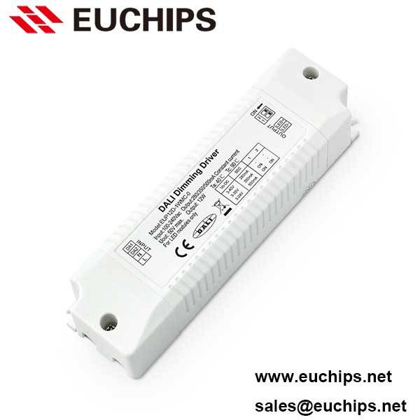 12W 280/350/500mA 1 channel dimmable constant current dali driver EUP12D-1WMC-0