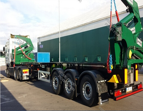3 axle 40 ft container side lifter trailer container loader semi trailer