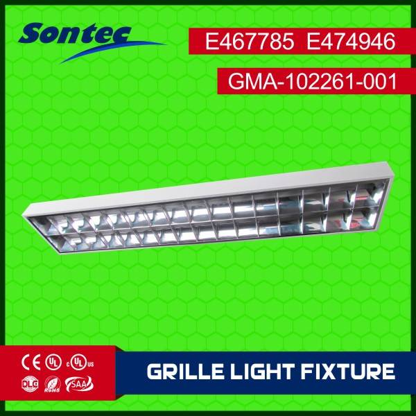 Surface mount 2X36W T8 grille lamp
