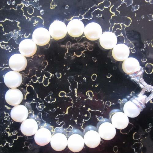 Sterling Silver Jewelry Pearl Strand Bracelet (B-078)