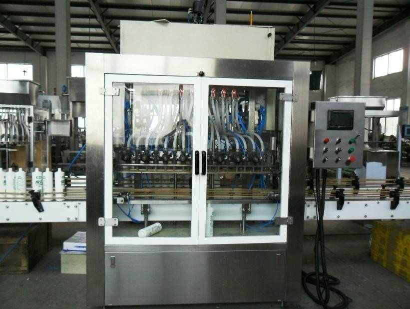 automatic bleach filling machine