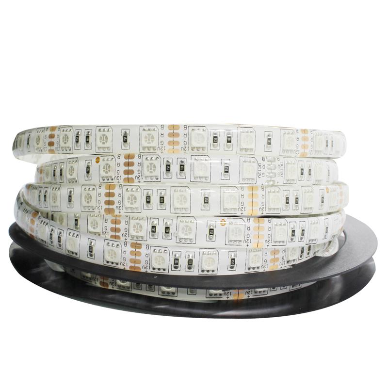 Ruban LED Professionnel 60LED/M Bande lumineuse 300 LED RGB 5 metres 12V smd5050 Ruban Multicolor