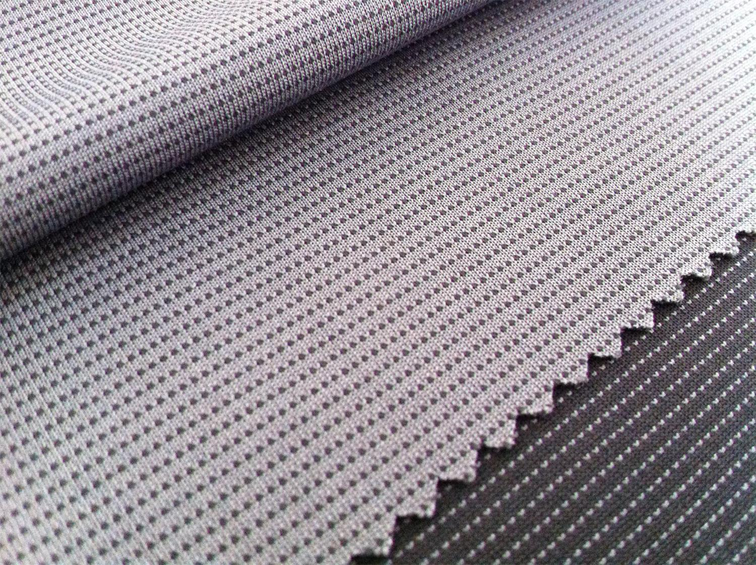 Polyester/Charcoal Mesh Jersey 150 GR/M2