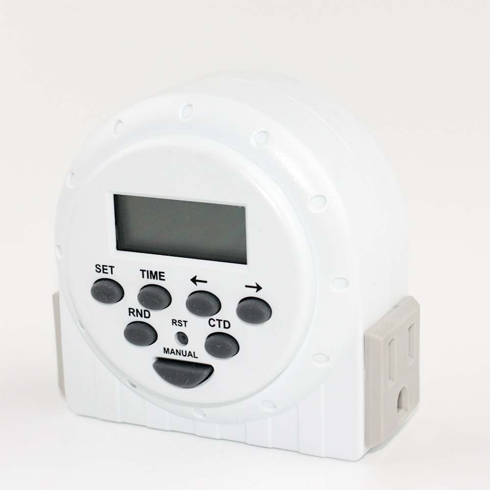 2 outlets electric timer program digital timer