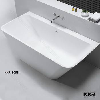 sample available solid surface stone resin bath