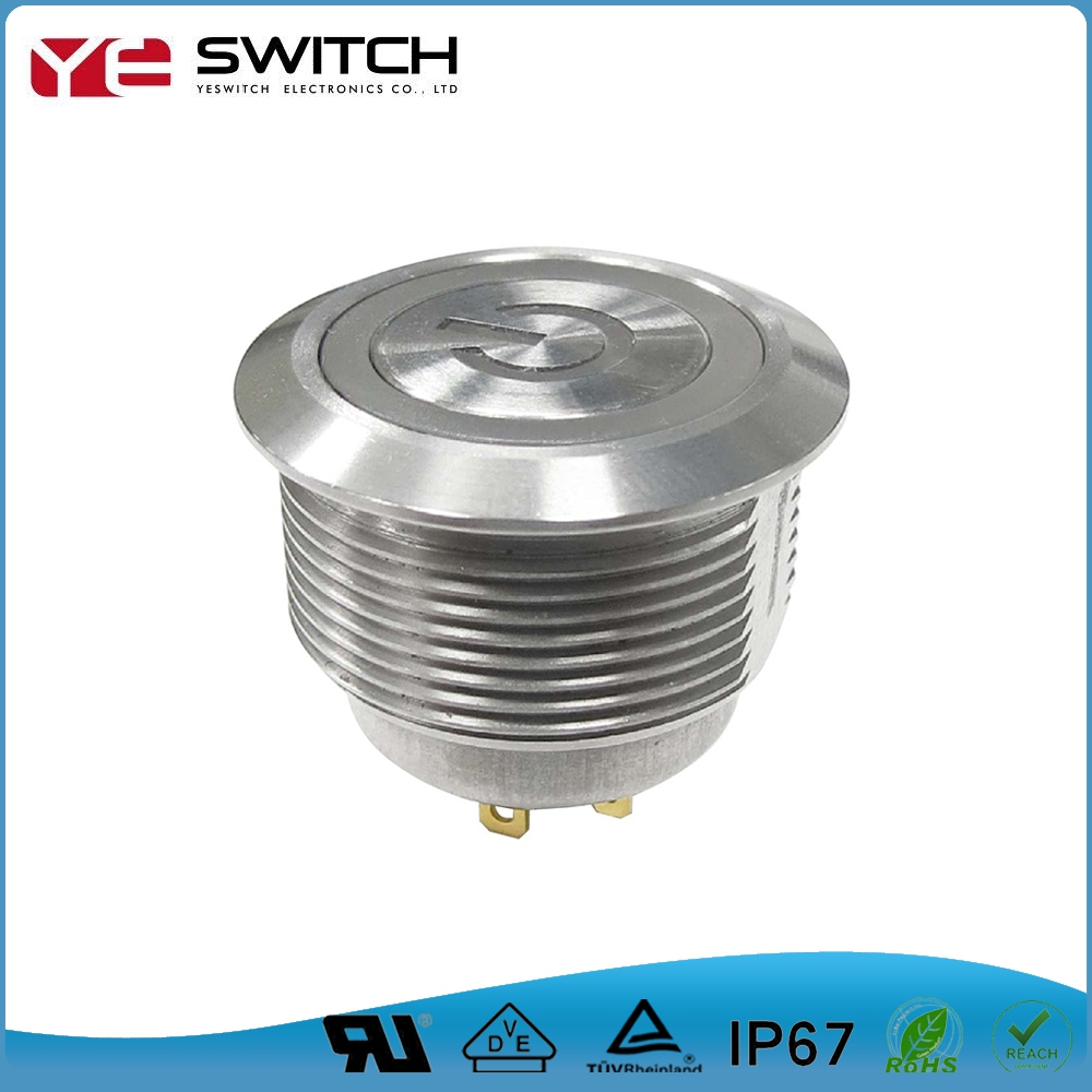New Design Power Logo Push Button Switch