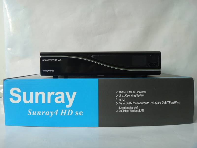Sunray Sr4 Dm800 HD Se Triple Tuner S2/C2/T2 Satellite Receiver