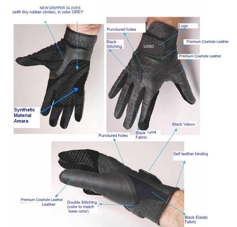 Horse Riding Gripper Gloves