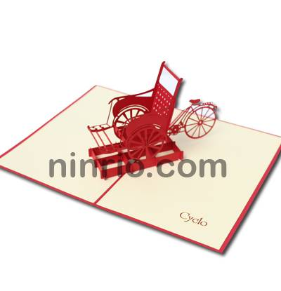 Cyclo 3D pop up greeting card