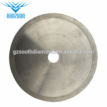 Made in China high efficient 150mm continious rim diamond saw blade for cutting agate