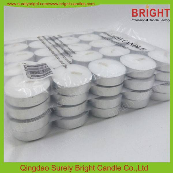 High quality white tealight candle