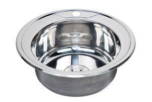 Hot sale single round bowl stainless steel sink WY-490