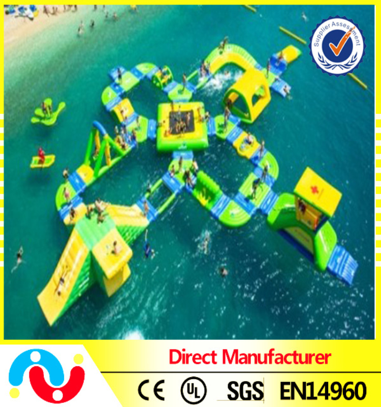PVC aviva water park, inflatable water jumping, floating water inflatable park