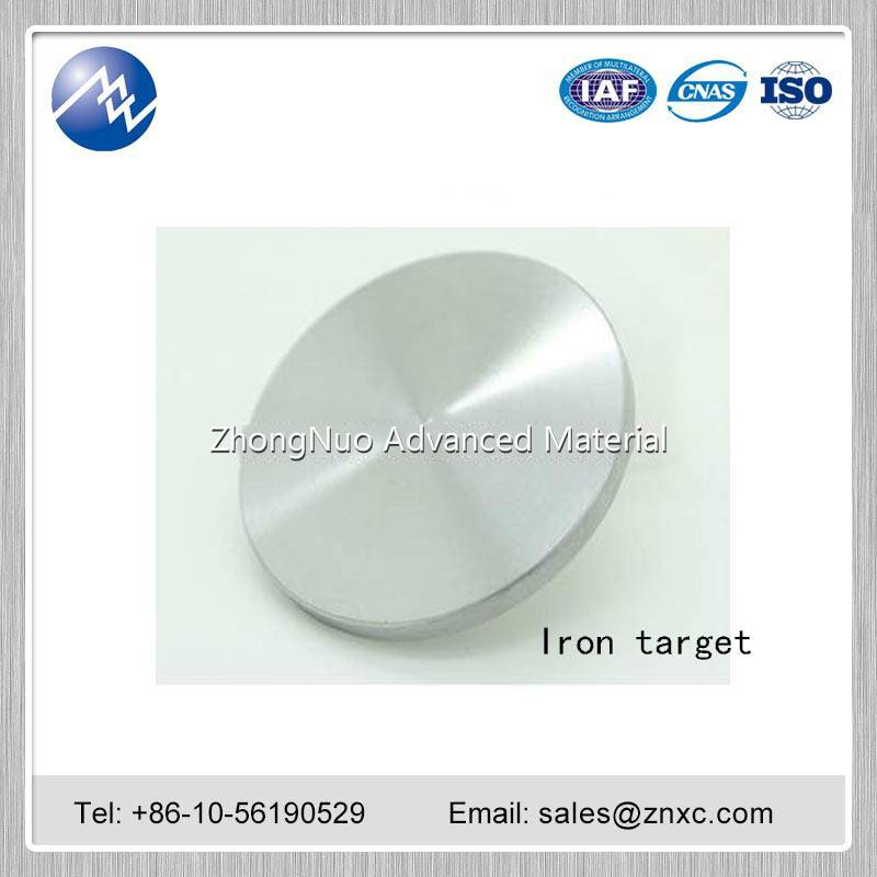 High purity Iron (Fe) target 99.95%