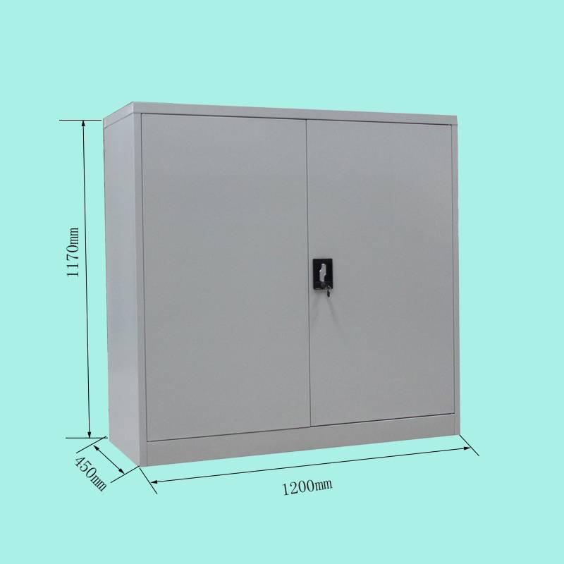 White half height steel storage filling cabinet