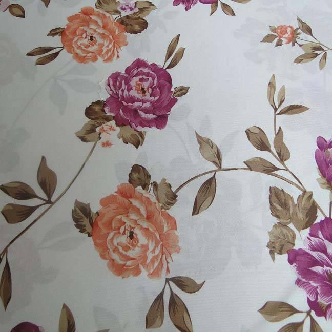flower brushed printed mattress fabric