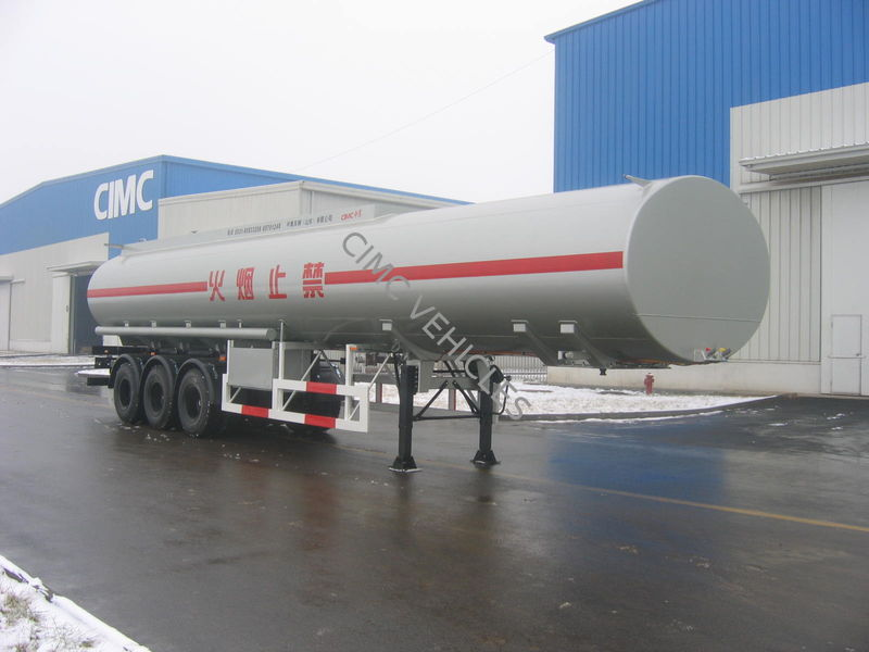 Carbon Steel Fuel Tank Semi-Trailer with 3 axles Mono-bloc type for Tanzania