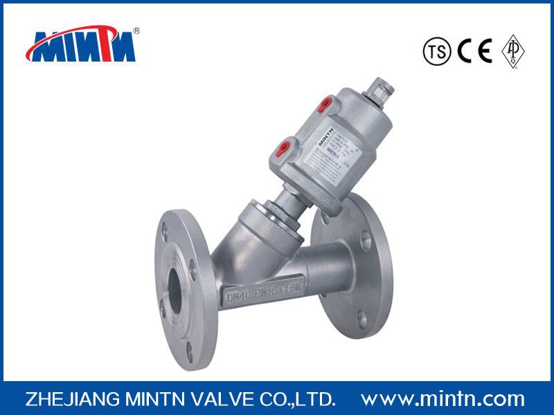 Pneumatic Angle Seat Valve flange connection