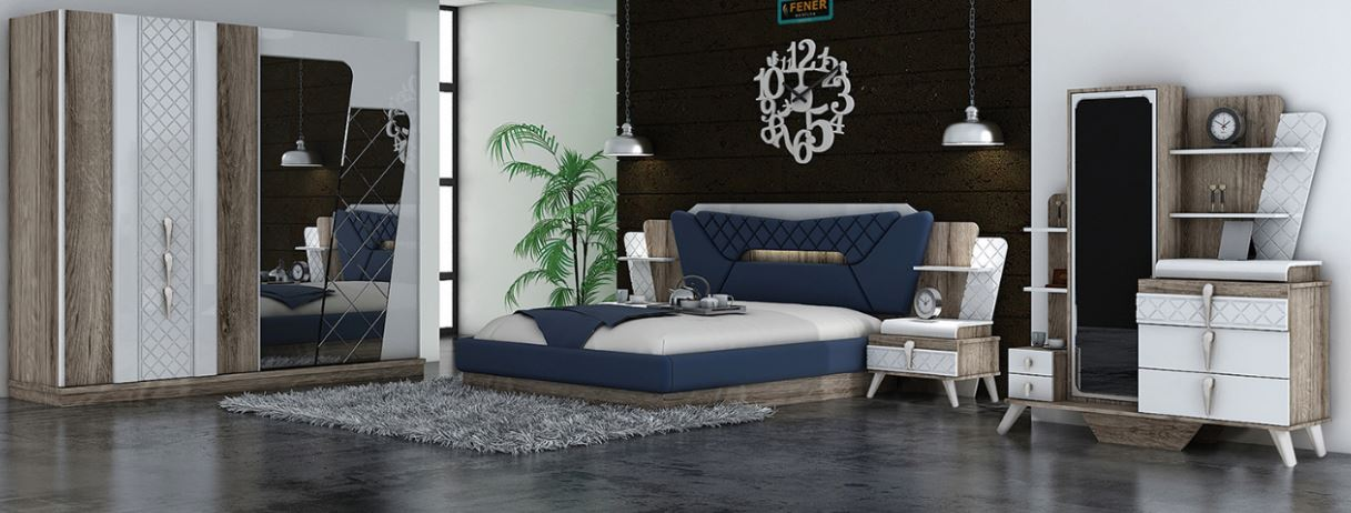 Competitive Price Unique Modern 2017 New Design Bedroom Set