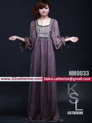 Latest Fashion Ruffle Cheap Kaftan Maxi Dresses