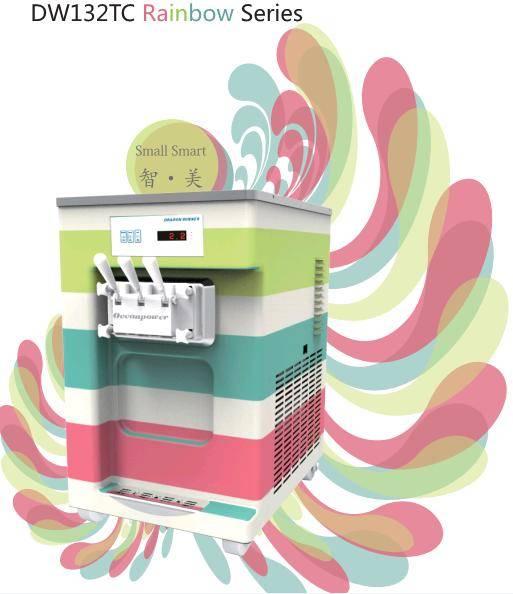 [Remote Control]DW132TC Colorful Table Top Soft Ice Cream Machine Frozen Yogurt Macine.No1 in China.